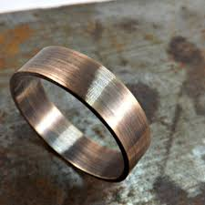 modern mens wedding bands shop men s bronze wedding band on wanelo
