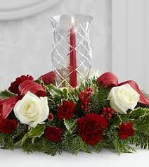 Christmas Hurricane Centerpiece - the merry u0026 bright bouquet by ftd vase included floral