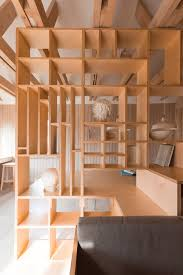 Plywood Design Artist U0027s Studio By Ruetemple Is Designed In A Single Wooden Unit