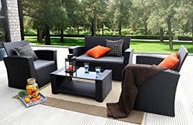 Outdoor Furniture Amazon by Amazon Com Baner Garden N87 4 Pieces Outdoor Furniture Complete