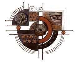 fragmented circle contemporary metal wall hanging