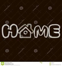 the word home logo stock illustration image 68986618
