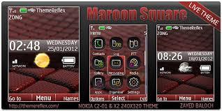 nokia 5130 menu themes maroon square theme for nokia x2 c2 01 240 320 themereflex