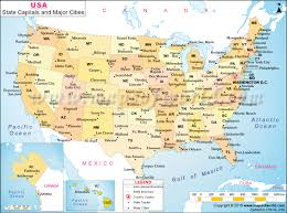 Map Of United States And Canada by Of Usa States And Capitals