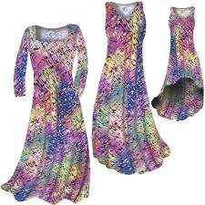 sold out pastel rainbow squares print slinky plus size