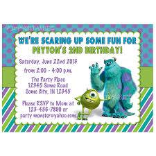 monsters inc birthday invitations blueklip com
