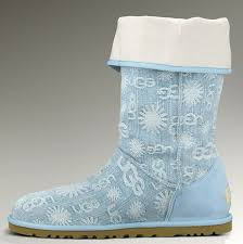womens ugg boots blue denim jacquard blue boots