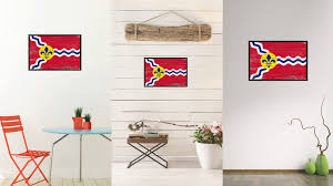 Home Decor In St Louis Mo st louis city missouri state vintage flag home decor office wall