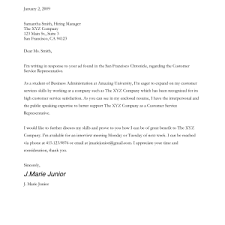 sample cover letter for customer service representative best