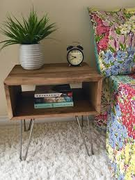 minimalist bedside table the cubby rustic industrial minimalist side table end table