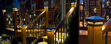 solar powered deck post lights led deck post lights deck post cap lights solar led low voltage