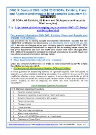 sample templates on ems 14001 2015 authorstream