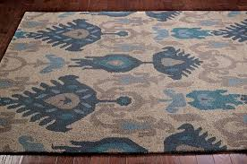 Grey And Beige Area Rugs New Transitional Blue Beige Grey Ikat Ve03 Area Rug Carpet