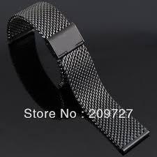black mesh bracelet images New lug width 18mm 20mm 22mm 24mm stainless steel black gold watch jpg