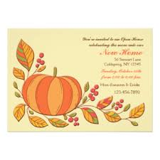 fall open house invitations announcements zazzle