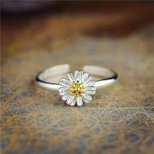 fashion rings aliexpress images Fashion silver dazzling daisy shape ring beautiful gold silver jpg