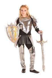 Halloween Costume Tween Girls Warrior Snow Knight Armor Mulan Joan Arc Costume 8 9 10 12 14
