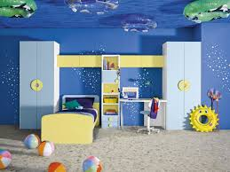 Teen Boys Bedroom Bedroom Underwater Themed Blue And Yellow Boys Room Comtemporary