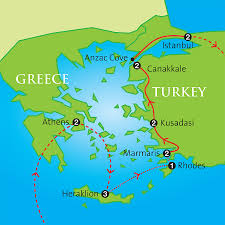 Italy And Greece Map by The Classical World Greece And Turkey