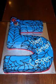 spiderman 5th birthday cake by h0p31355 on deviantart