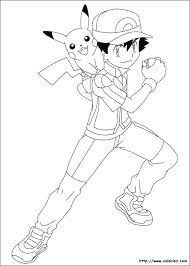 Coloriage Pokemon Pikachu Colorier Enfants Az Legendaire Noir Blanc