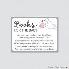 stork baby shower bring a book instead of a card invitation