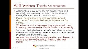 Example Of Essay Writing Thesis Statement In An Essay