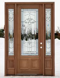 Wood Exterior Entry Doors Exterior Wood Doors Entry Door With One Sidelight Replacing