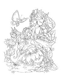 complicated coloring pages for adults fairies coloring book
