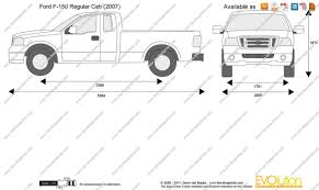 2012 ford f150 dimensions the blueprints com vector drawing ford f 150 regular cab