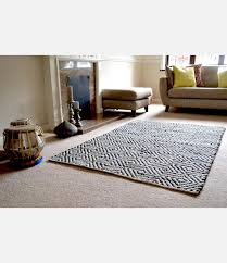 White Cotton Rug Designs Emporium Black White Diamond Cotton Rug Handmade Designs