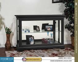 curio cabinets black finish single glass shelf curio console