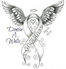 cancer ribbon drawing clipartxtras