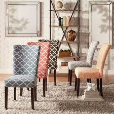 Parson Dining Chair Catherine Moroccan Pattern Fabric Parsons Dining Chair Set Of 2
