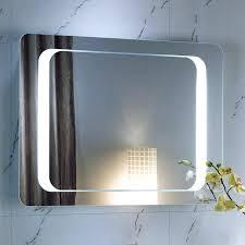 Lighted Bathroom Mirror by Wall Mirror Backlit Bathroom Wall Mirrors Backlit Bathroom