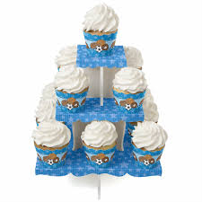 boy sports baby shower cupcake stands baby shower mania