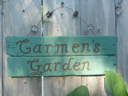 personalized garden signs home outdoor decoration