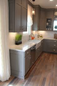Finishing Kitchen Cabinets Best 25 Gray Kitchen Cabinets Ideas Only On Pinterest Grey