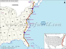 florida highway map us interstate 95 i 95 map miami florida to houlton maine