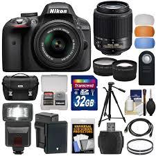 nikon black d3300 dx digital slr camera with 24 2 megapixels and