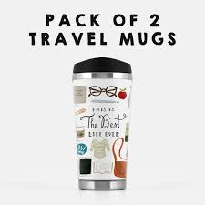 Best Stainless Steel Travel Mug by Pack Of 2 Best Life Ever Stainless Steel Travel Mug Pioneer