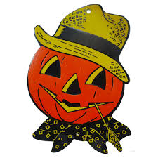 vintage pumpkin scarecrow head halloween decoration 1960 u0027s pop