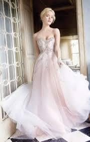 pink embroidered wedding dress 28 dreamy pink wedding gowns for brides weddingomania