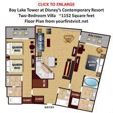 Disneyland Hotel 1 Bedroom Suite Floor Plan by Walt Disney World Resorts Ranked By Convenience Yourfirstvisit Net