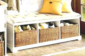 entryway bench with baskets and cushions brilliant brilliant entry storage bench mid century entryway bench