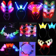 glow party supplies aliexpress buy 2017 woman girl light up headband garland