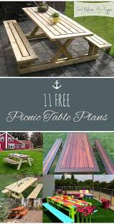 best 25 picnic table plans ideas on pinterest outdoor table