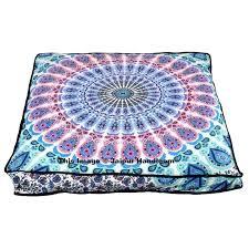 Ottoman Pillow Cool Pillow Ottoman Peacock Mandala Floor Pillow Ottoman Square