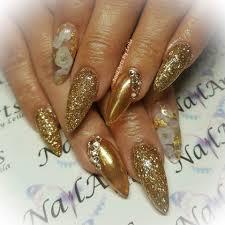 encapsulated rose and gold nails nailpro