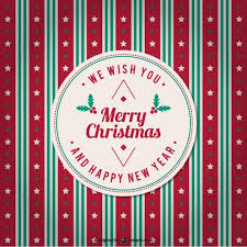minimalist merry christmas card with presents vector free vector